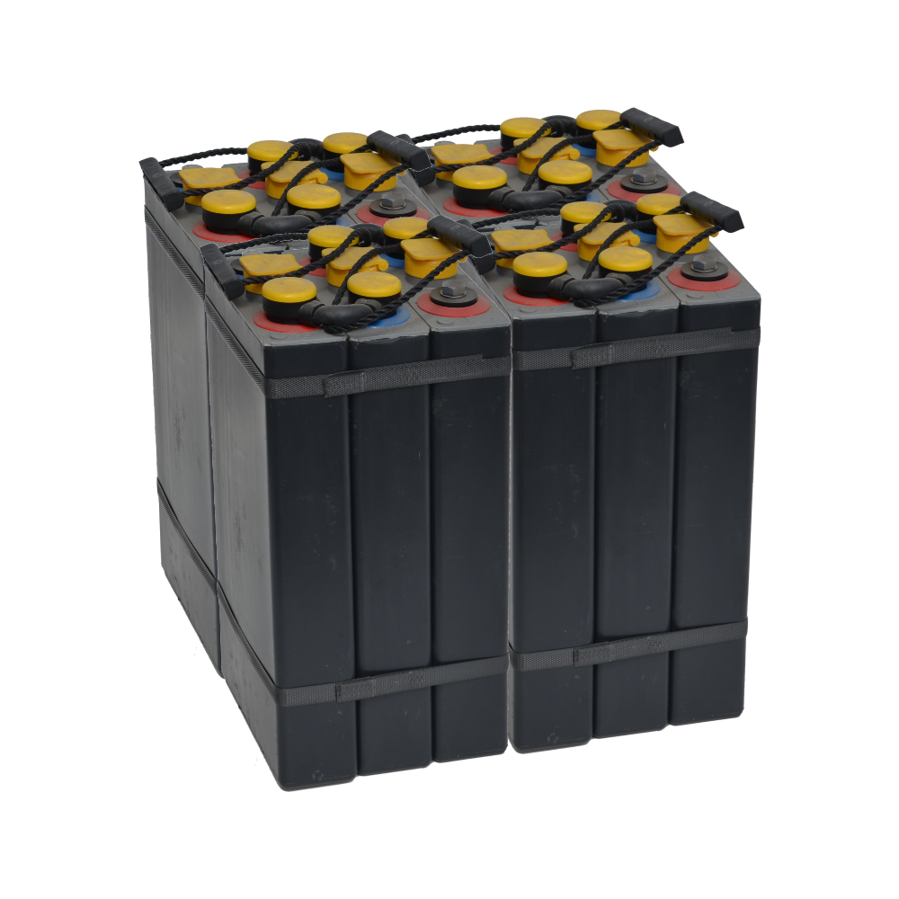 3x2V 180Ah5 tubular battery with plastic banded elements