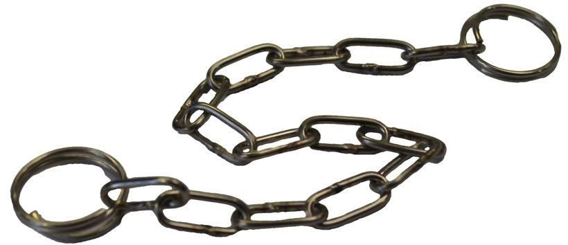 Stainless steel chain for the recovery tank cap