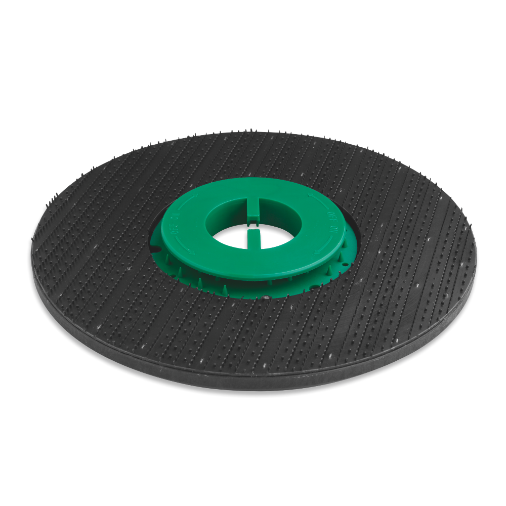 Pad holder cl green <br />Ø disc: 385 mm <br />Ø bristle: 1,2 mm <br />Cod: 48814020