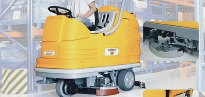 Ride-on scrubbers